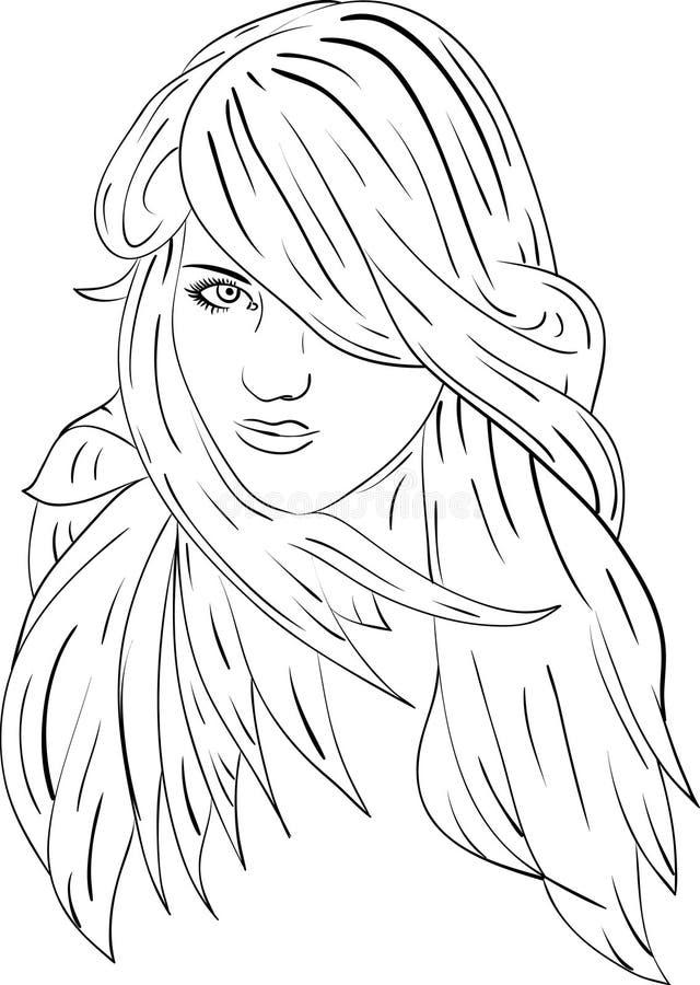 Haired vrouwen 3 royalty-vrije illustratie