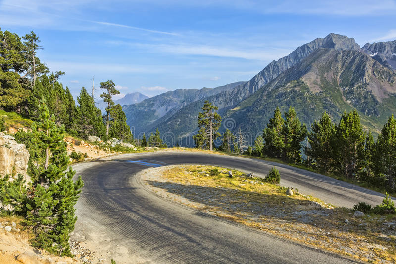 Hairpin Curve on a Scenic Road stock images