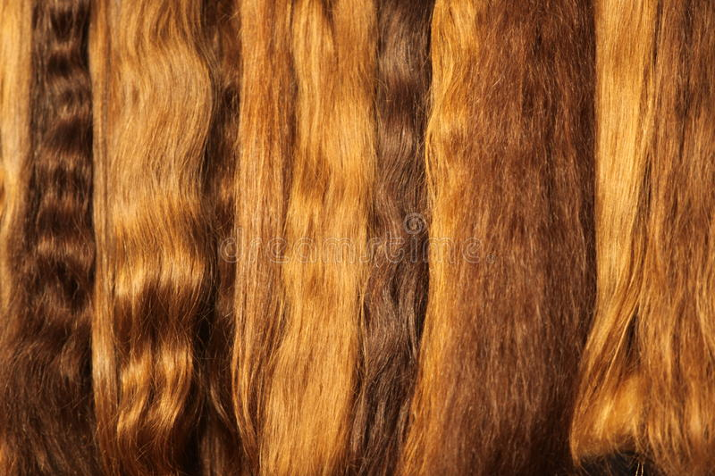 Hairs. Image of womanish light hairs royalty free stock photo