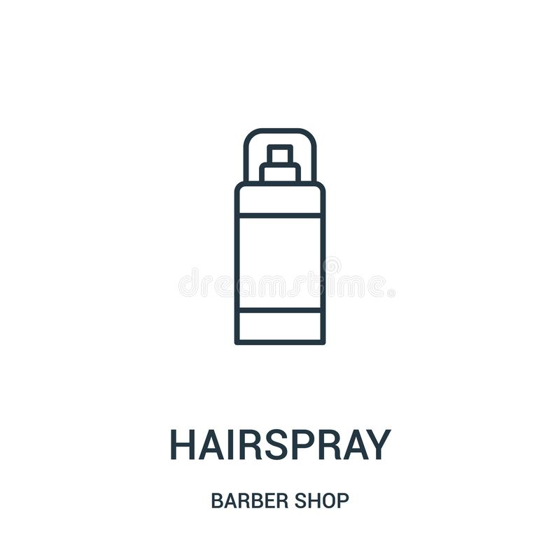 hairspray icon vector from barber shop collection. Thin line hairspray outline icon vector illustration stock illustration