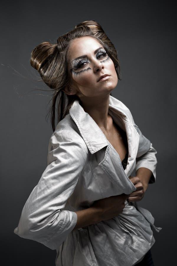 hairstyle αποκριές makeup στοκ εικόνα με δικαίωμα ελεύθερης χρήσης