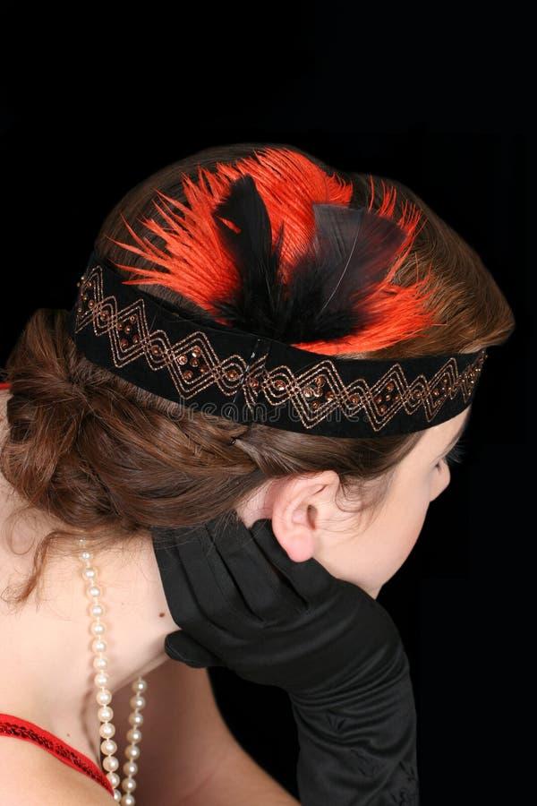 hairstyle του 1920 στοκ φωτογραφίες με δικαίωμα ελεύθερης χρήσης