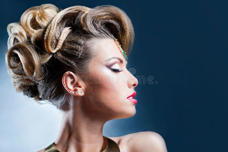 Download Hairstyle stock image. Image of makeup, hairstyle, blonde - 26572961