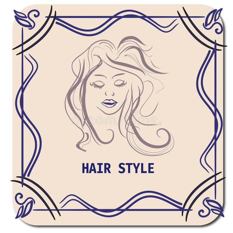 Free Hairstyle CARD FOR BEAUTY SALON IN VECTOR WITH BEAUTIFUL GIRL Stock Images - 68102304