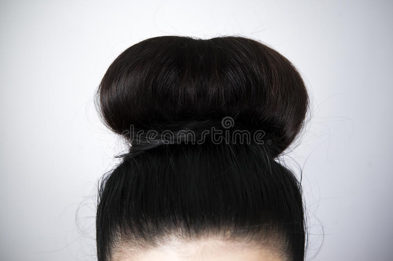 Hairstyle close-up stock photo