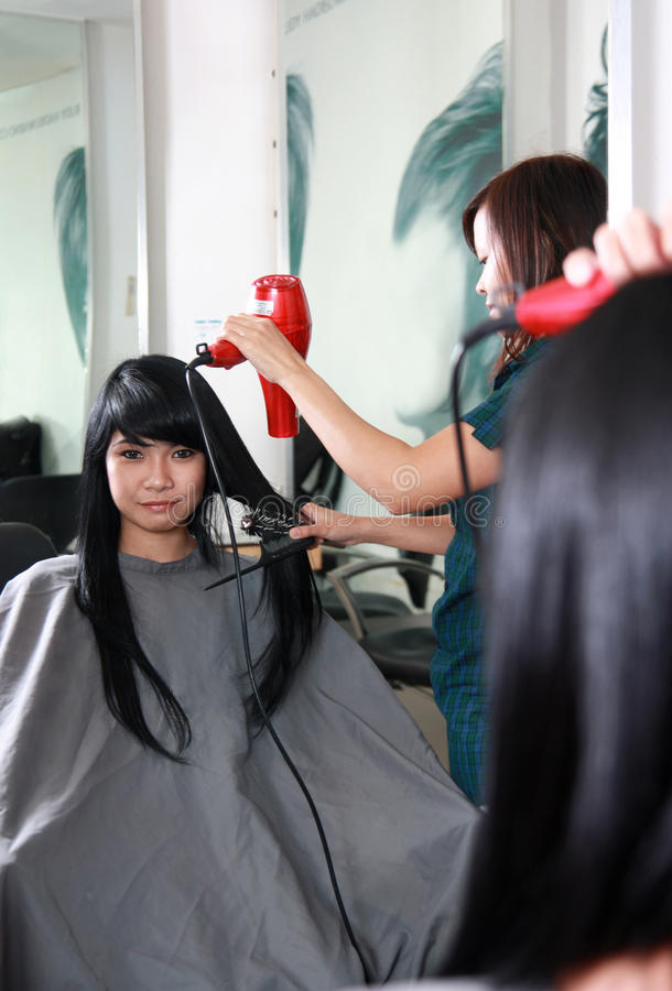 Hairstyle or hair cut stock image