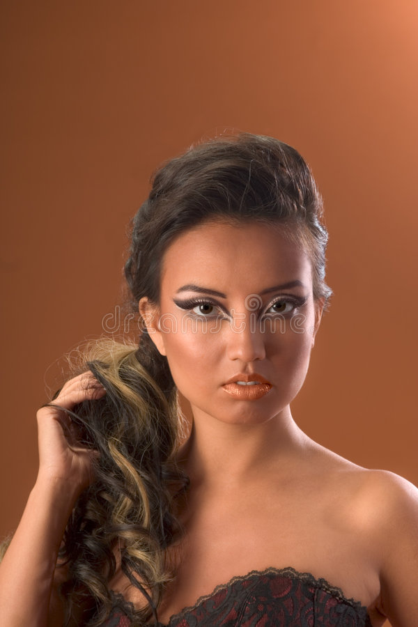 Download Hairstyle Hair Extension Asian Stock Image - Image: 3485095