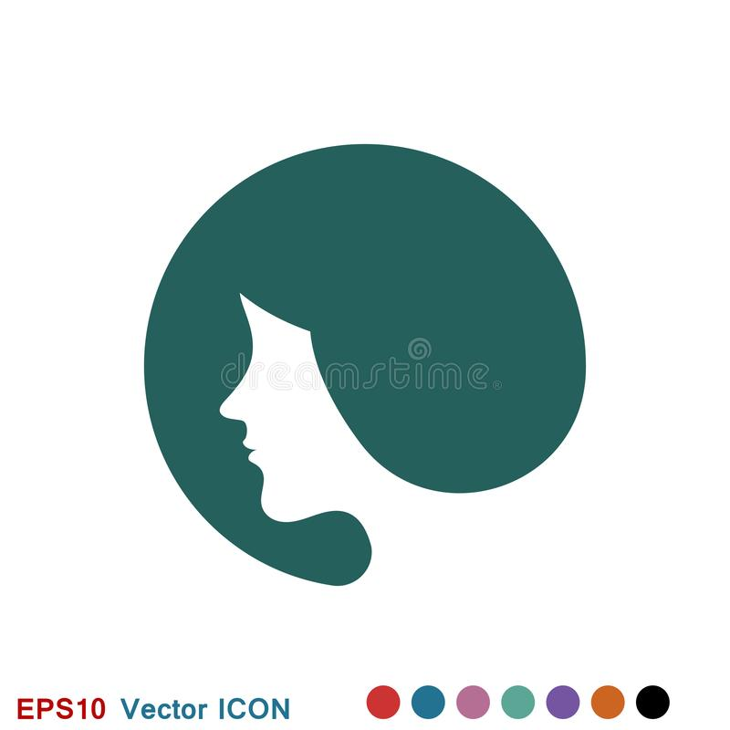 Hairstyle icon. Premium quality graphic design. logo, illustration, vector sign symbol for design. Hairstyle icon. Logo, illustration, vector sign symbol for royalty free illustration