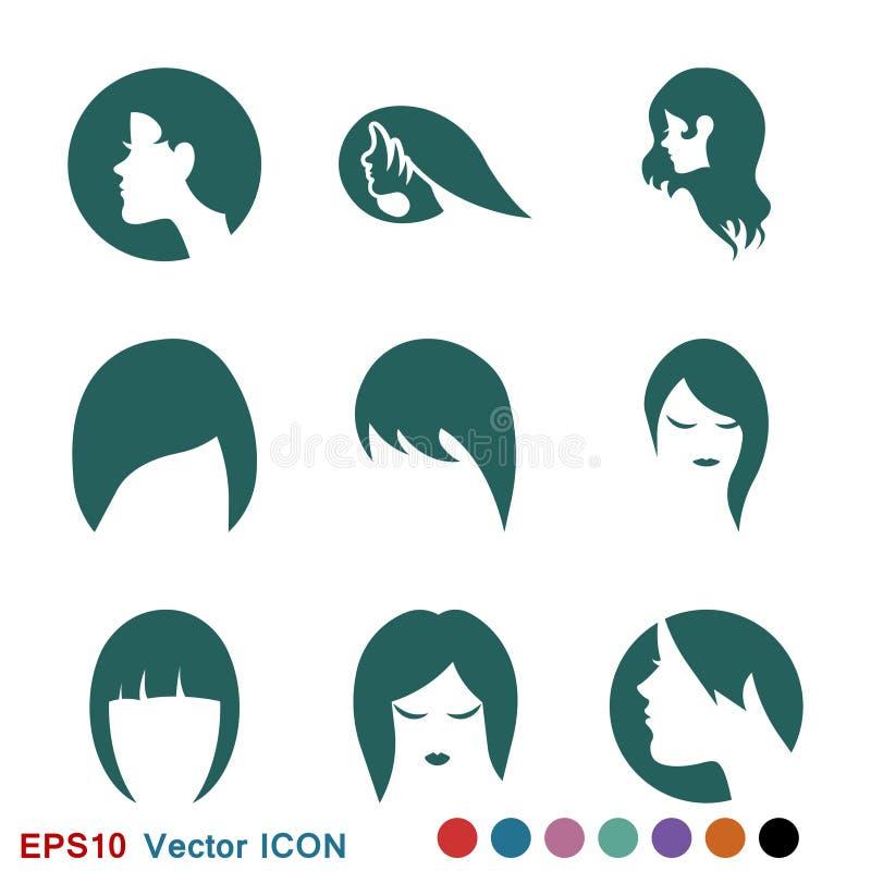Hairstyle icon. Premium quality graphic design. logo, illustration, vector sign symbol for design. Hairstyle icon. Logo, illustration, vector sign symbol for stock illustration