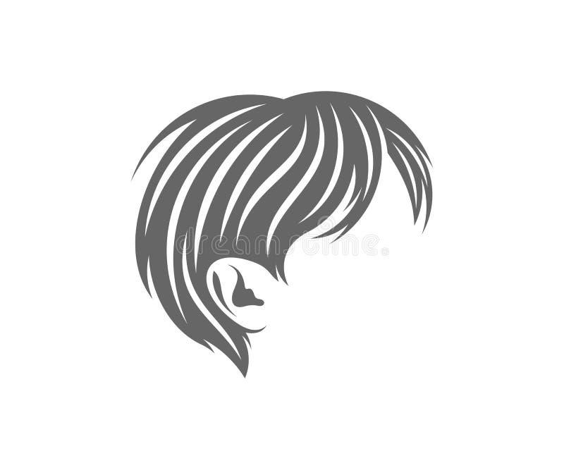 Hairstyle Logo Design Vector Template , Hair Salon And