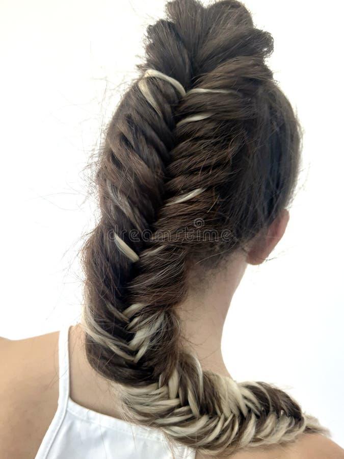 Outstanding Hairstyle On Long Hair Braiding Stock Photo Image Of Glamour Schematic Wiring Diagrams Phreekkolirunnerswayorg