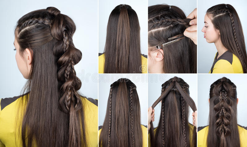 Download Hairstyle Plait For Party Tutorial Stock Image   Image Of Party,  Braid: 82817767
