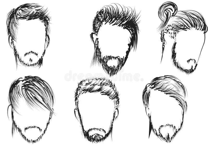 Hairstyle. Set of man  illustration vector illustration
