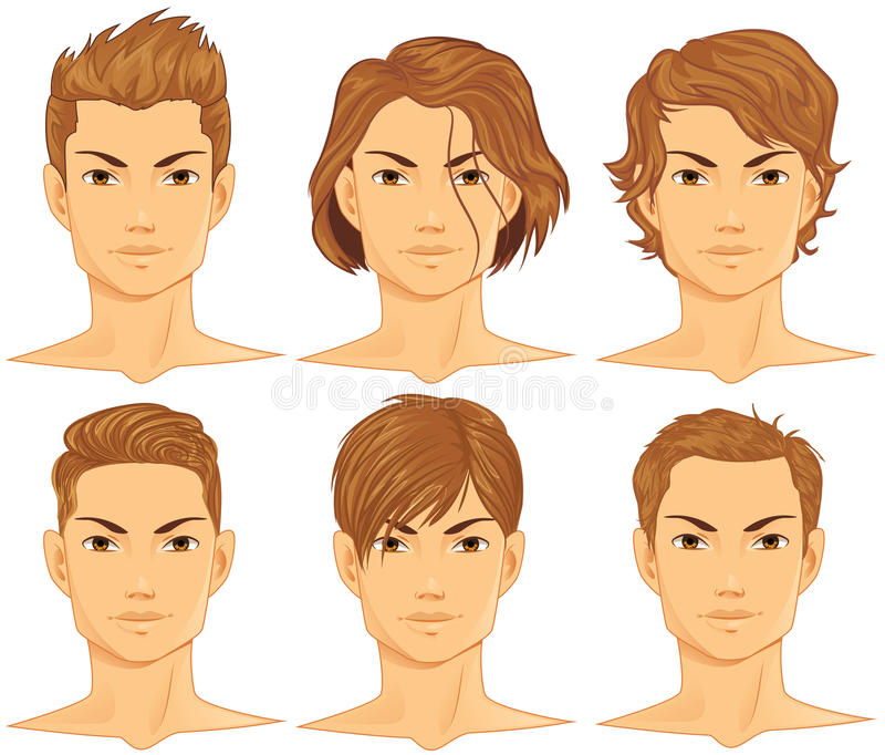 Hairstyles Set stock illustration