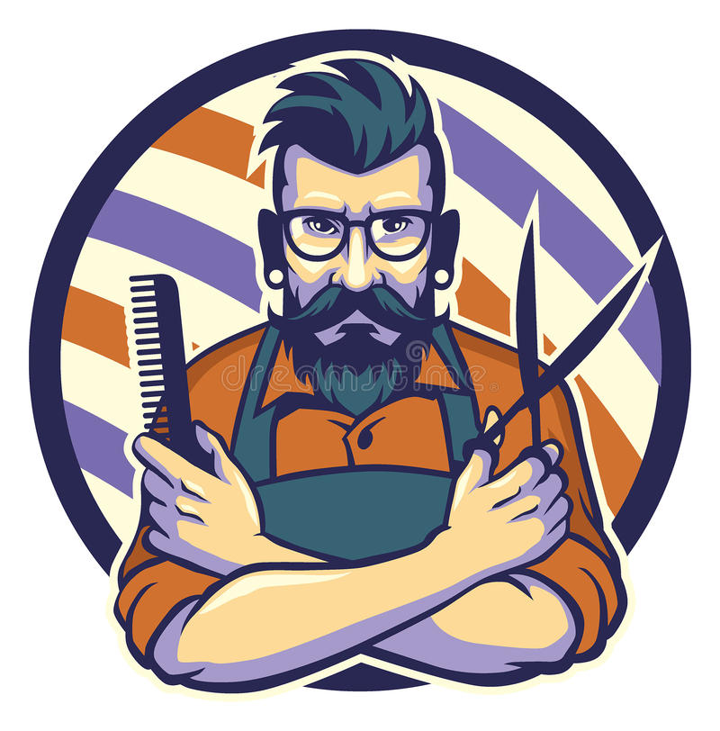 The hairstylist. Vector of the hairstylist with mustache and bearded styleThis is the 29000000th image online