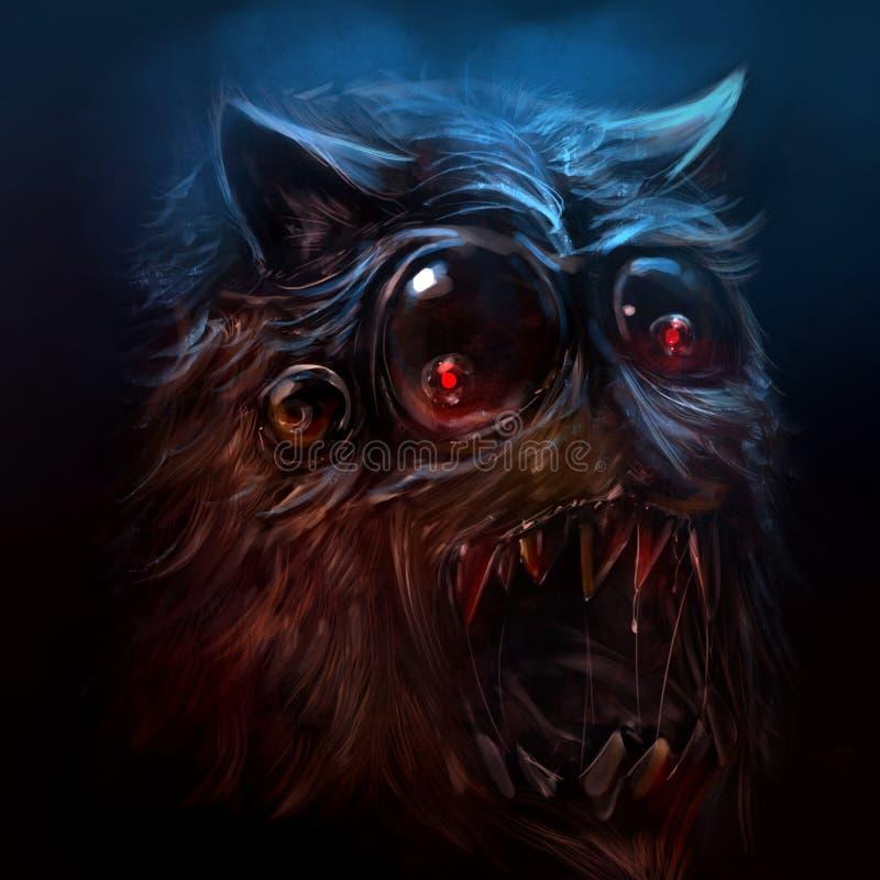 Free Hairy Alien Monster Illustration. Royalty Free Stock Photo - 54651695