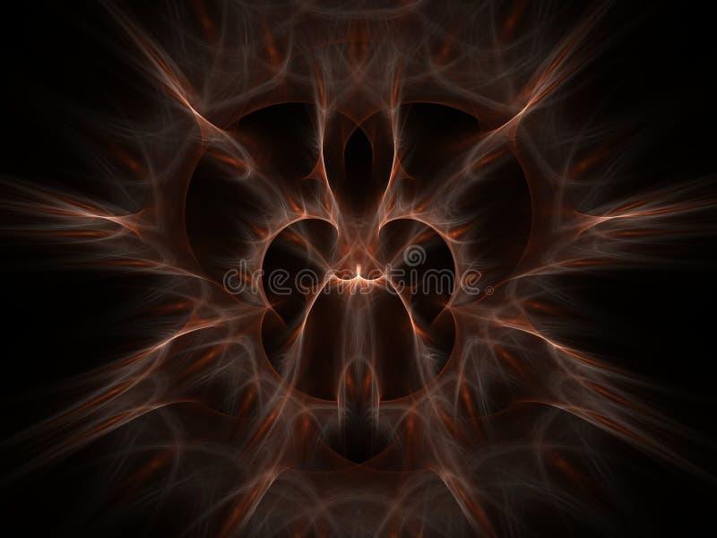 Hairy artifact. Light hairy fractal on dark background royalty free illustration