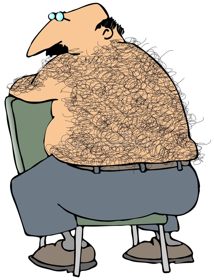 Download Hairy Back stock illustration. Illustration of chubby - 5553416