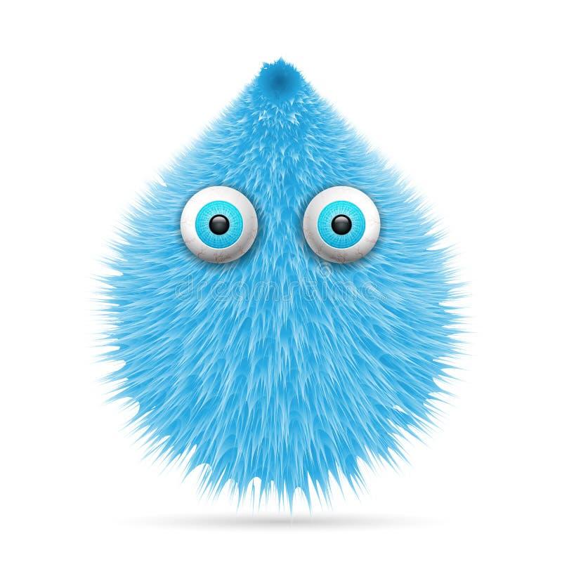 Hairy cartoon vector illustration
