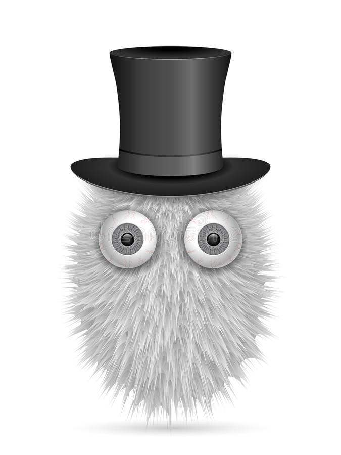 Hairy cartoon. On a white background. Vector illustration royalty free illustration