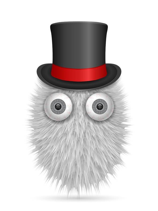 Hairy cartoon. On a white background. Vector illustration stock illustration