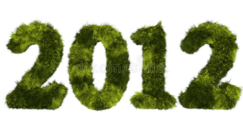 Download Hairy Lettering 2012 In Stained Green Stock Illustration - Illustration of date, hairstyle: 21846716