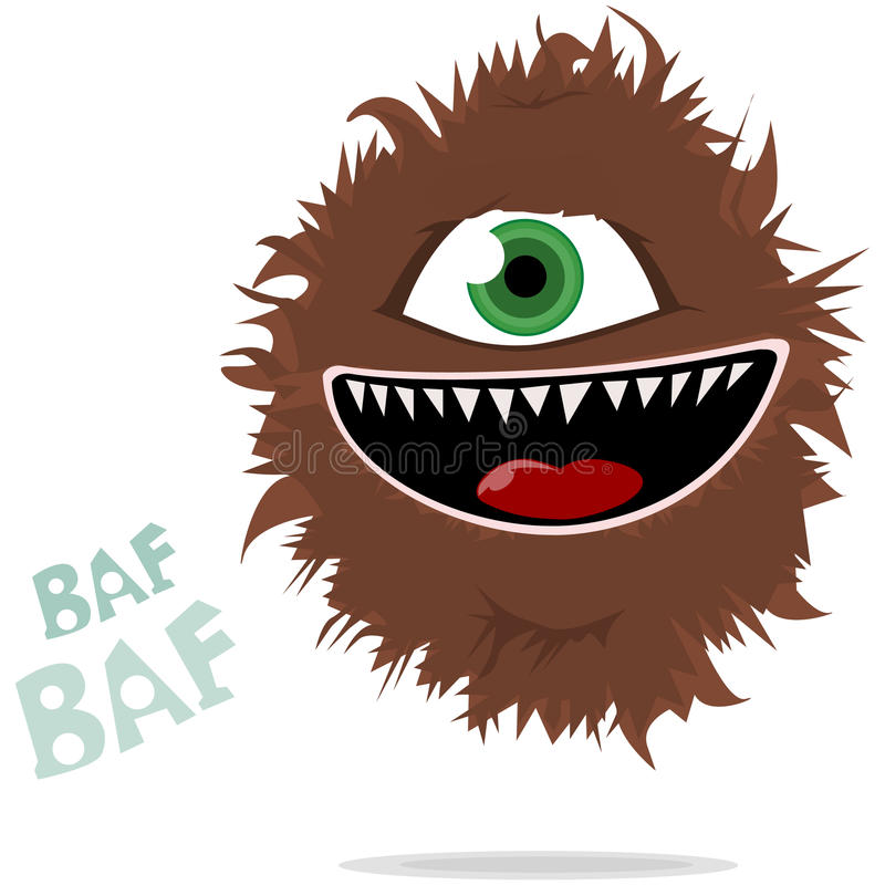 Download Hairy Monster stock illustration. Illustration of cool - 9558457