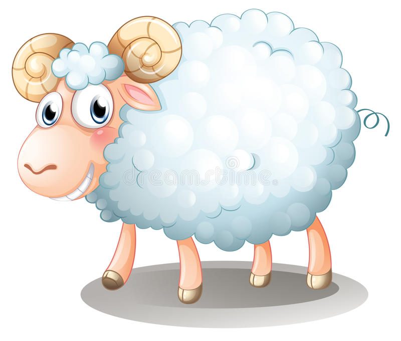 A hairy sheep vector illustration