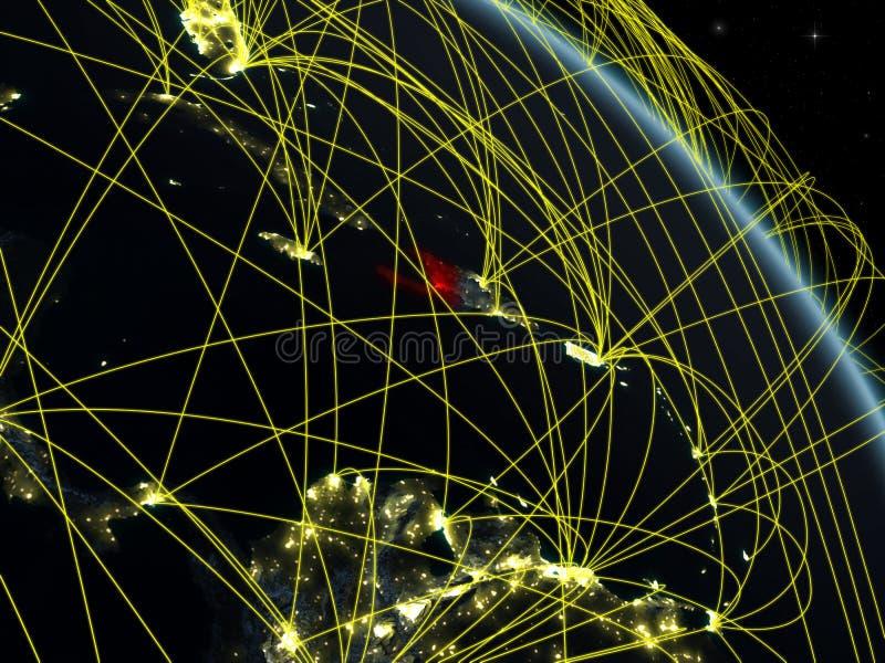 Haití del espacio con la red stock de ilustración