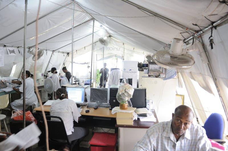 Haitański szpital. zdjęcia royalty free