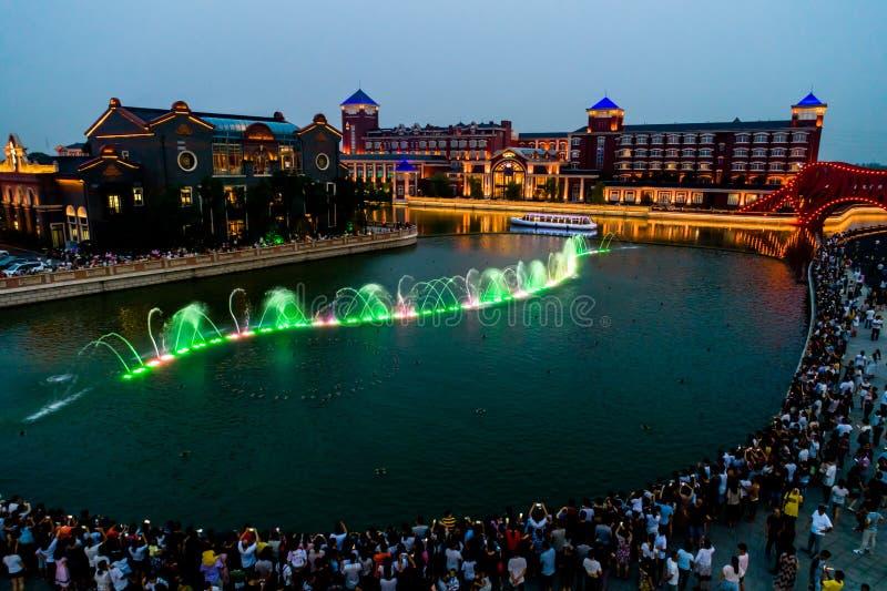 Haitang pegaza wody miasta musicalu fontanna obrazy stock