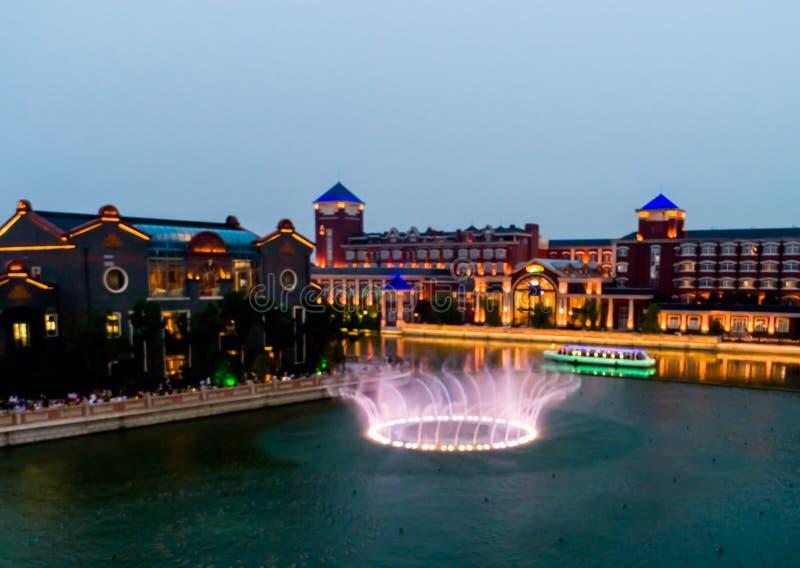 Haitang pegaza wody miasta musicalu fontanna zdjęcia stock