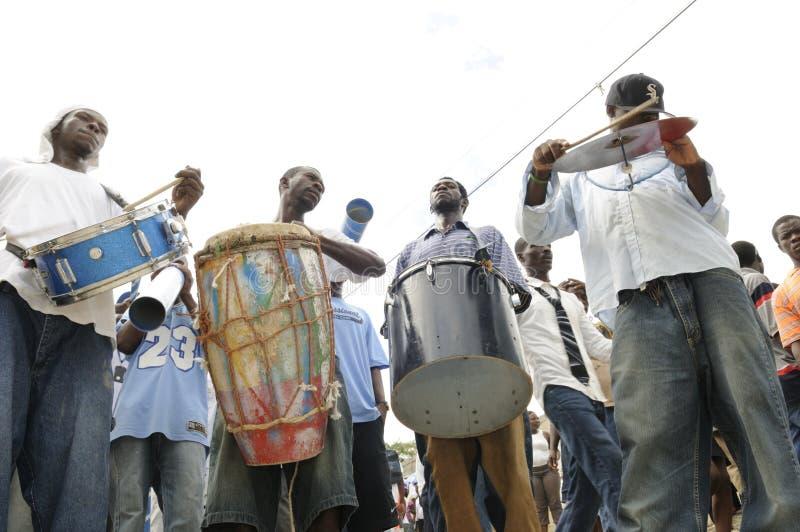 Haiti-Begräbnis. stockfotografie