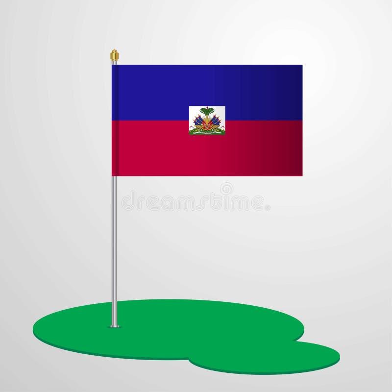 Haiti Chorągwiany słup ilustracji