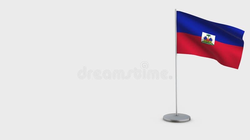 Haiti 3D falowania flagi ilustracja royalty ilustracja