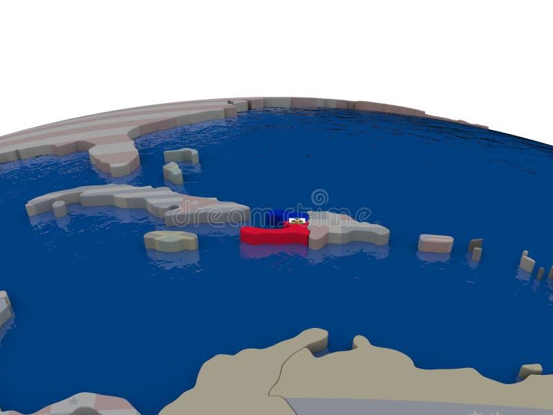 Download Haiti with flag stock illustration. Image of haiti, flag - 83716546