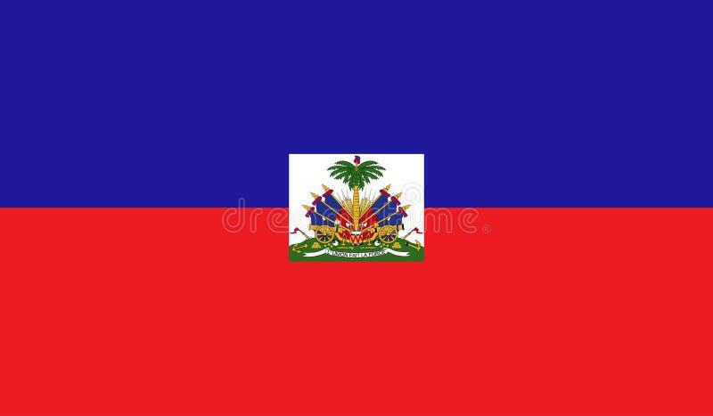 Haiti flaga wizerunek ilustracja wektor