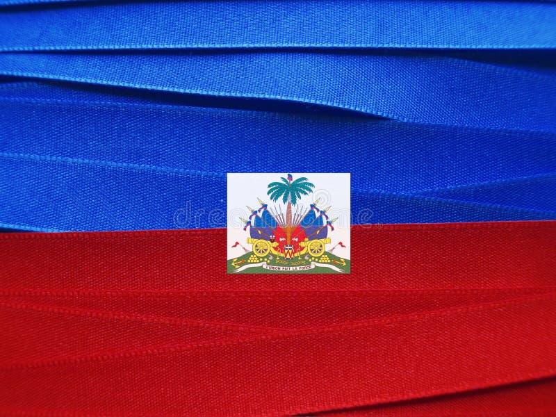 Haiti flagga eller baner arkivbilder