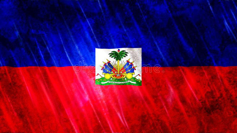 Haiti flagga royaltyfri illustrationer