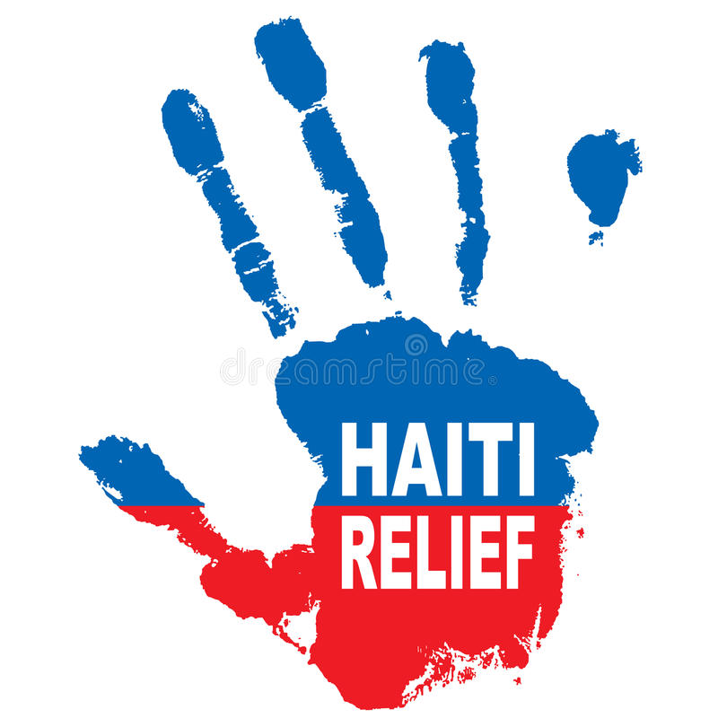 haiti hand vektor illustrationer