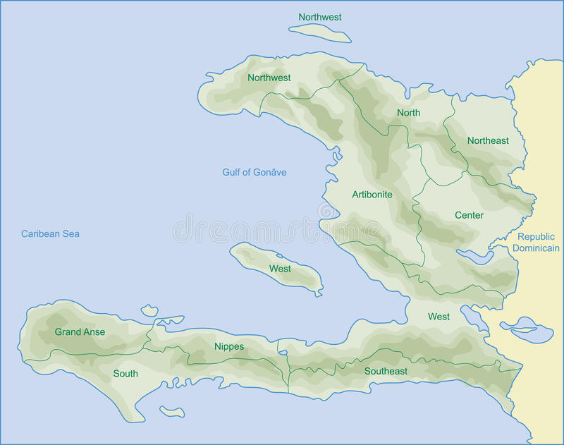 Haiti Map Royalty Free Stock Photography
