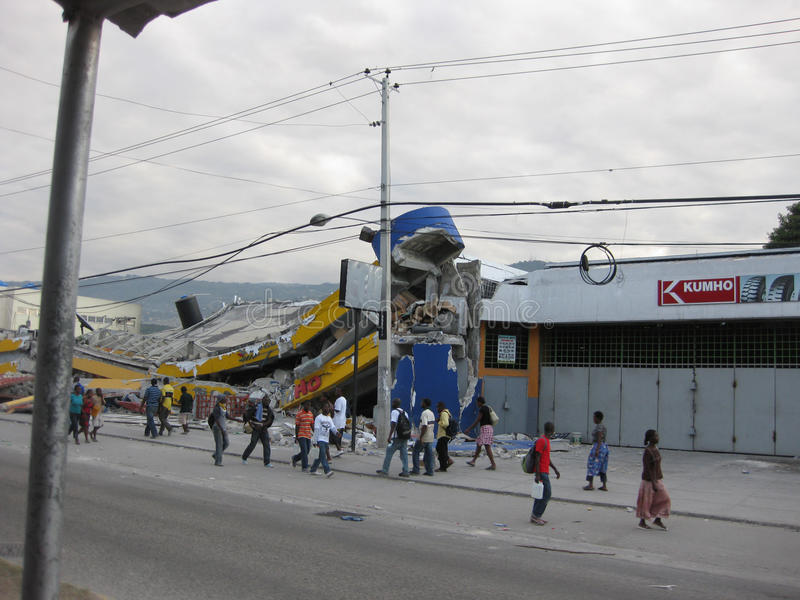 Haiti nach dem Erdbeben stockbild