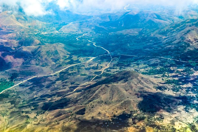 Haiti od samolotu fotografia stock