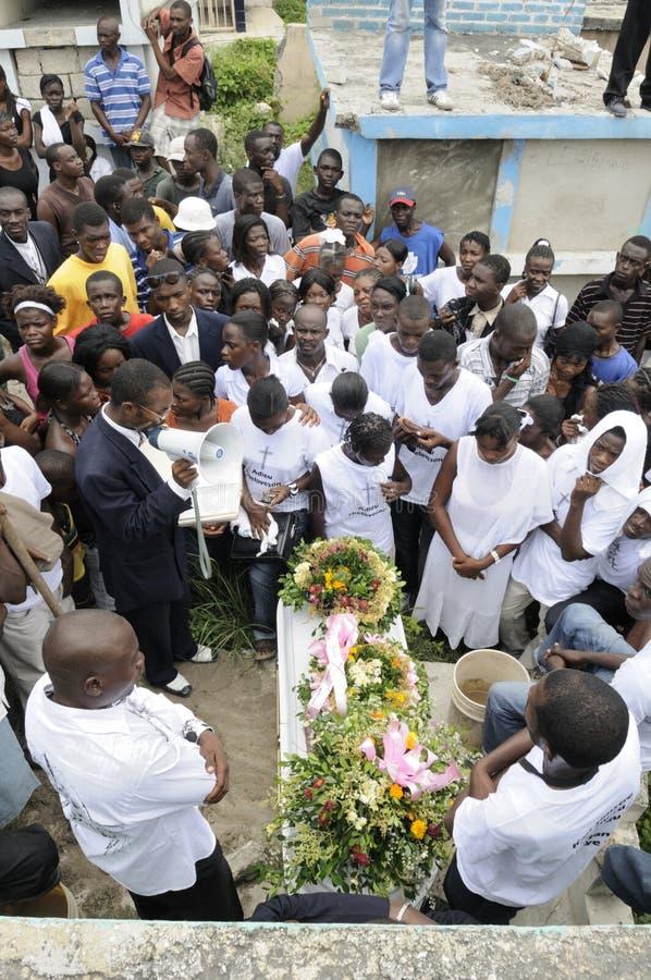 Haiti pogrzeb. obrazy royalty free