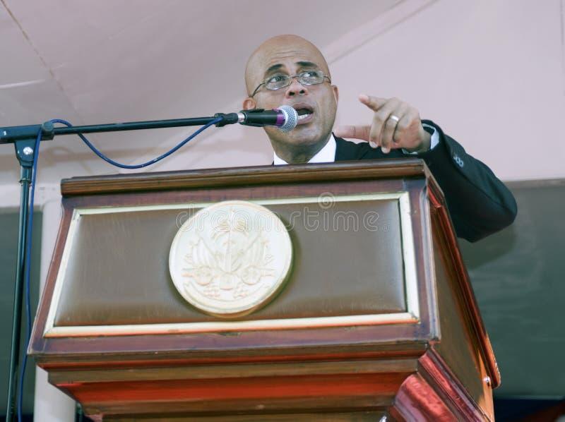Haiti presidents- anförande arkivfoto
