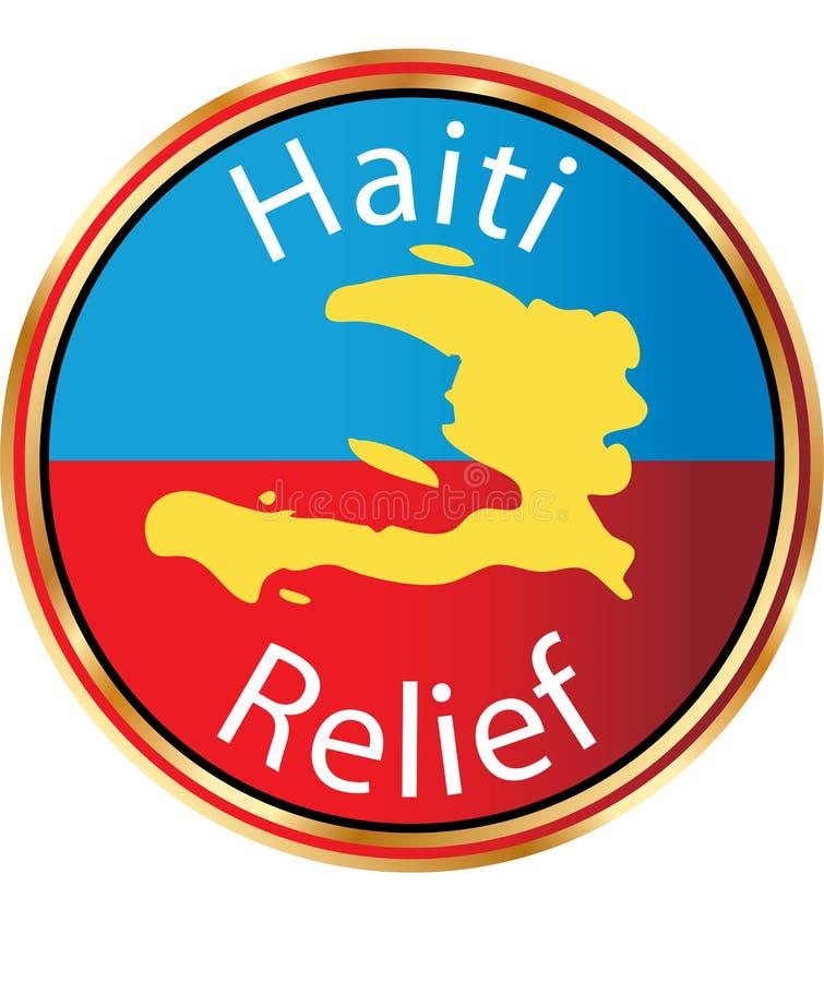 Haiti Relief - Help Haiti icon royalty free illustration
