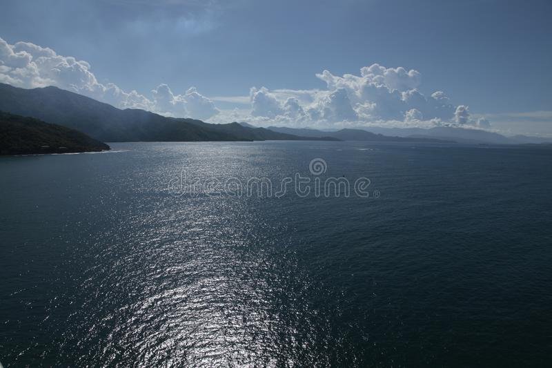 Haiti`s dreams neuter sea, forest & lovely people. Haiti`s Cap-Haitien port is the main island area that gives anyone the feal of silent peaceful range in Haiti stock photos