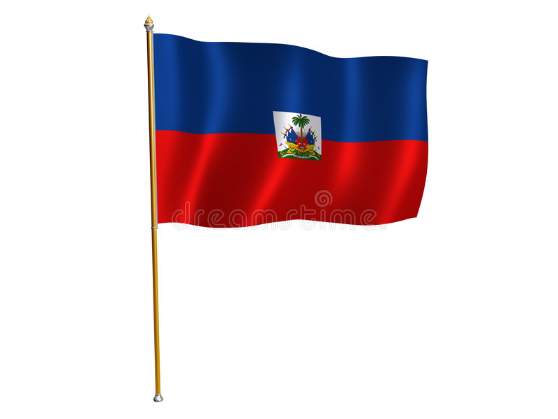 Haiti silk flag. Silk flag of Haiti vector illustration