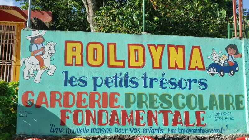 Haiti skola royaltyfri foto