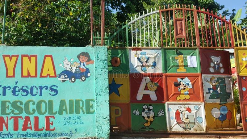 Haiti skola arkivfoton